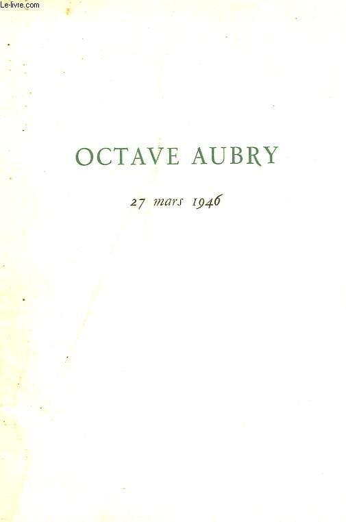 OCTAVE AUBRY - 27 MARS 1946