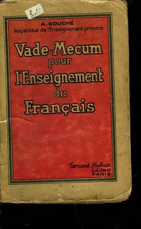 VADE-MECUM POUR L'ENSEIGNEMENT DU FRANCAIS