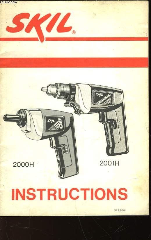 SKIL INSTRUCTIONS - 2000H - 2001H
