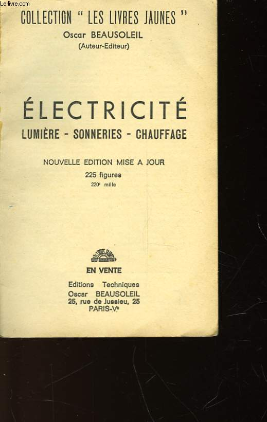 ELECTRICITE - LUMIERE - SONNERIES - CHAUFFAGE - N°1