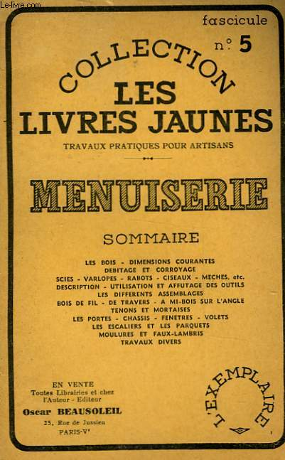 MENUISERIE - FASCICULE N°5