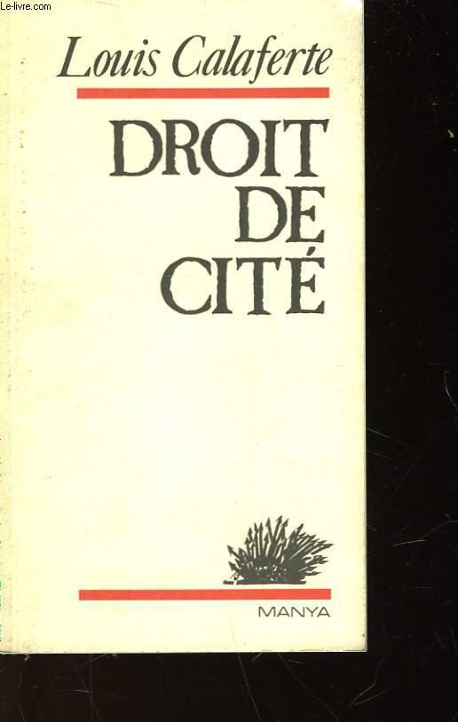 DROIT DE CITE