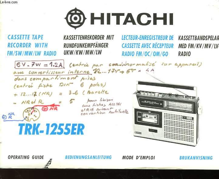 HITACHI - TRK - 1255ER - MODE D'EMPLOI