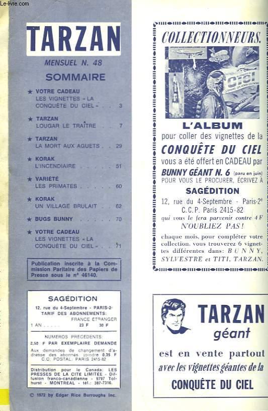 TARZAN - LE SEIGNEUR DE LA JUNGLE - MENSUEL N°48