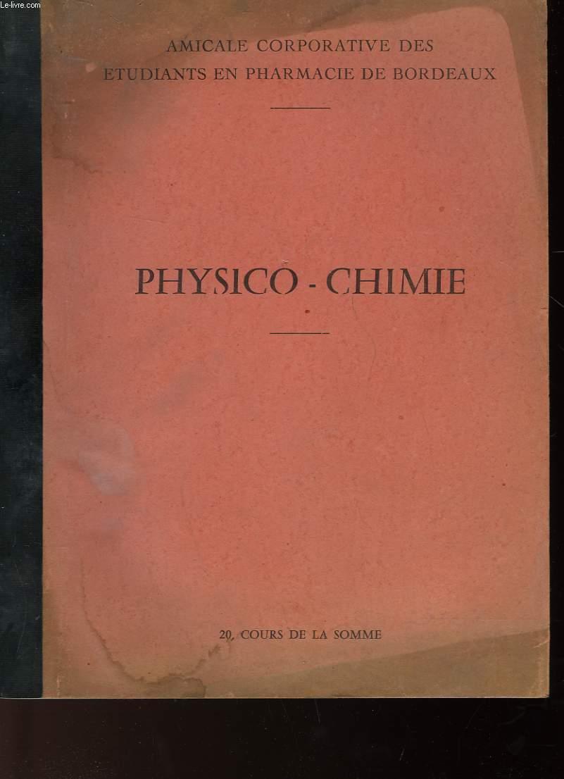 PHSYSICO-CHIMIE