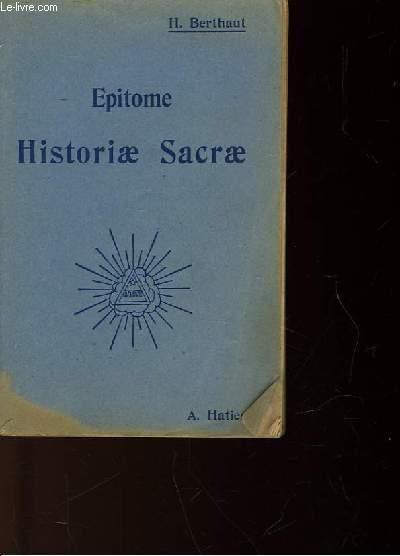 EPITOME HISTORIAZ SACRAE