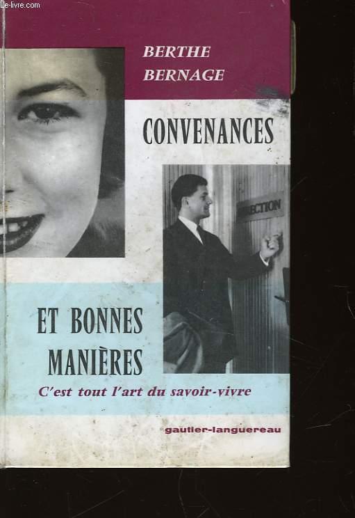 CONVENANCES ET BONNES MANIERES