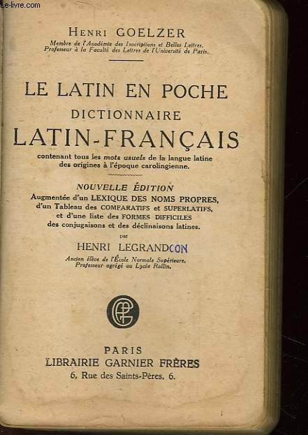 LE LATIN EN POCHE DICTIONNAIRE - LATIN-FRANCAIS