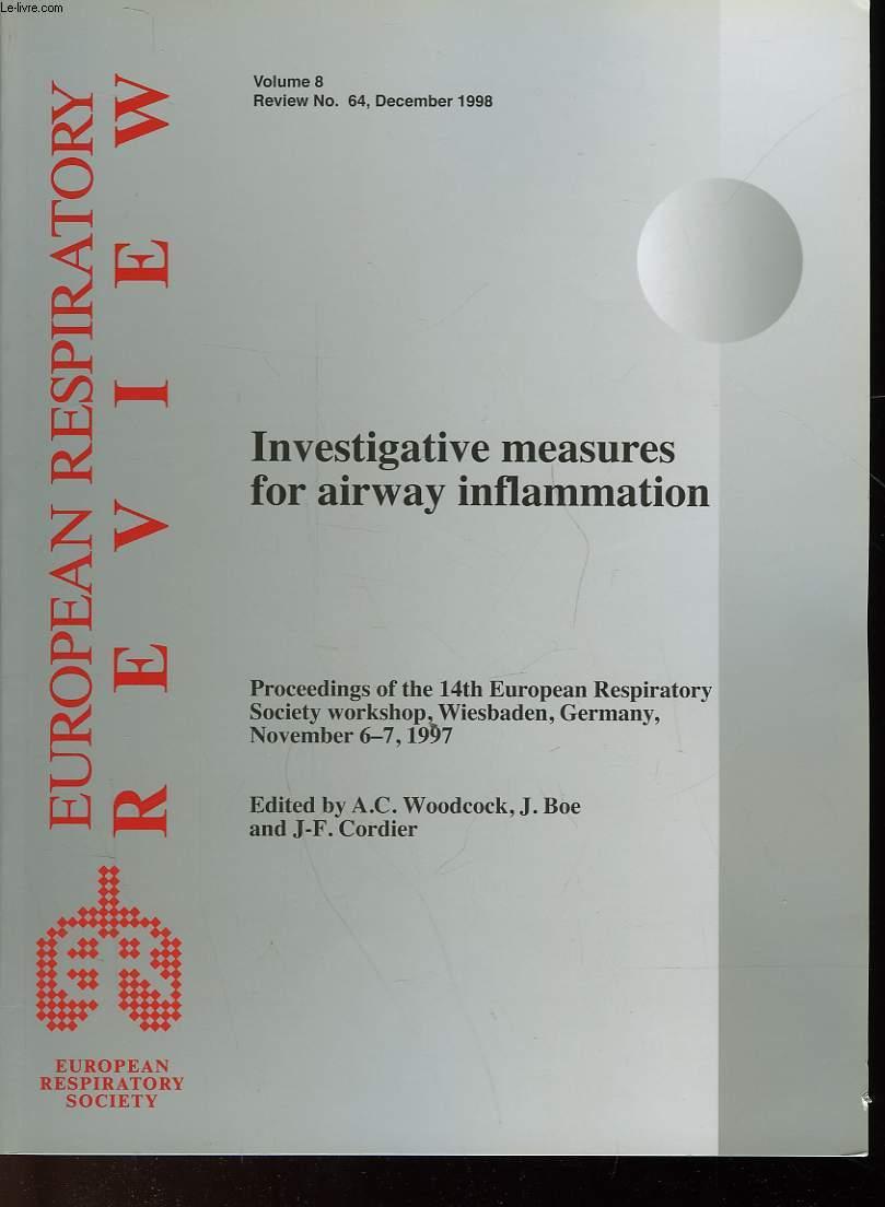 INVESTIGATIVE MEASURES FOR AIRWAY INFLAMMATION - VOLUME 8 - N°64