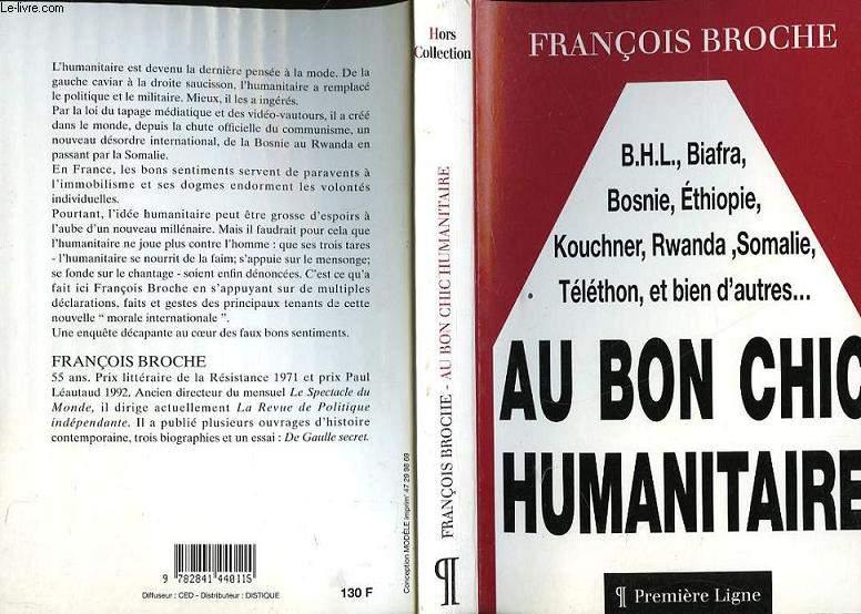 AU BONC CHIC HUMANITAIRE
