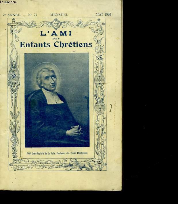 L'AMI DES ENFANTS CHRETIENS - N°74