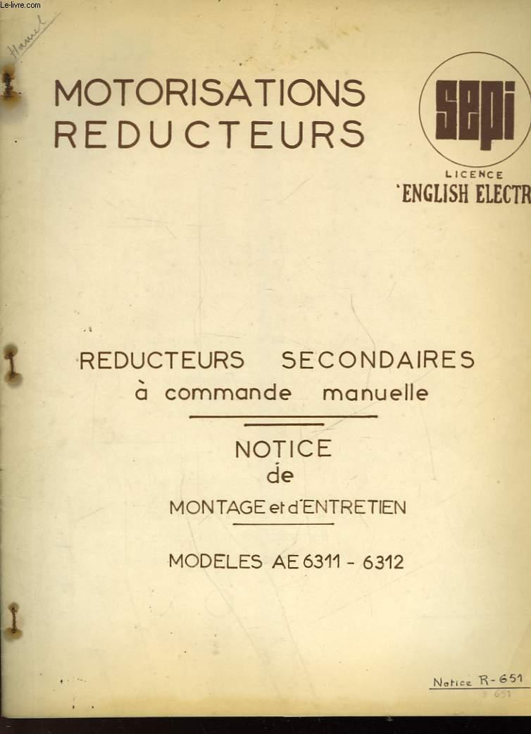 MOTORISATION REDUCTEURS