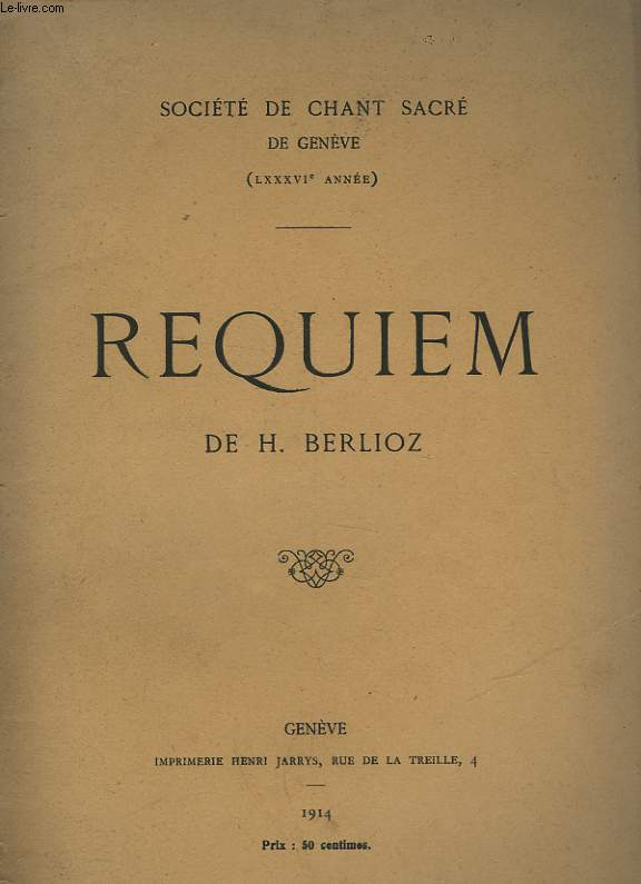 AUDITION DU REQUIEM