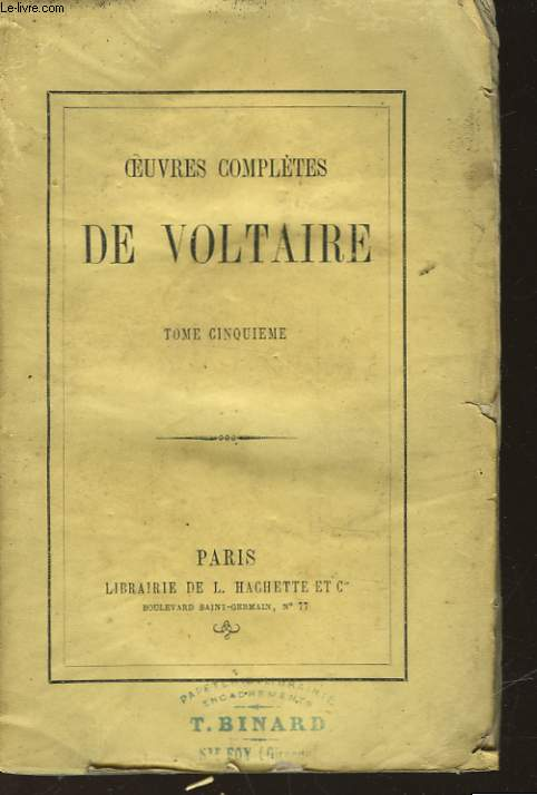 OEUVRES COMPLETES DE VOLTAIRE - TOME 5