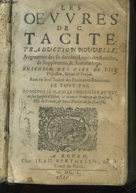 LES OEUVRES DE C. TACITE