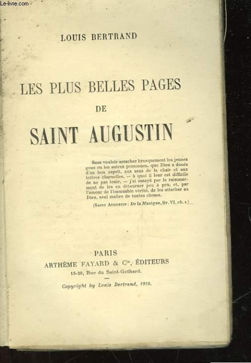 LES PLUS BELLES PAGES DE SAITN AUGUSTIN