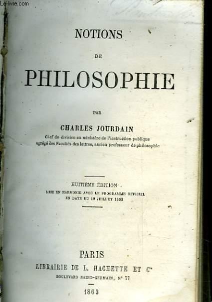 NOTIONS DE PHILOSOPHIE
