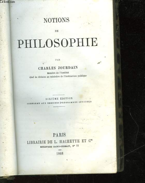 NOTIONS DE PHILOSOPHIE