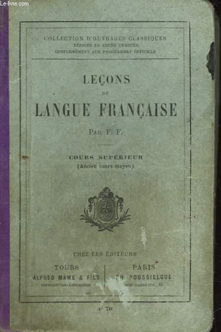 LECONS DE LANGUE FRANCAISE - COURS SUPERIEUR