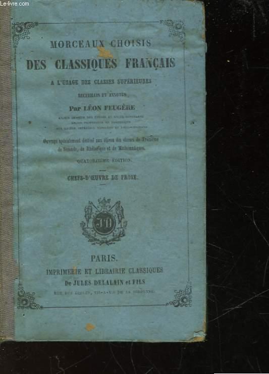 MORCEAUX CHOISIS DES CLASSIQUES FRANCAIS