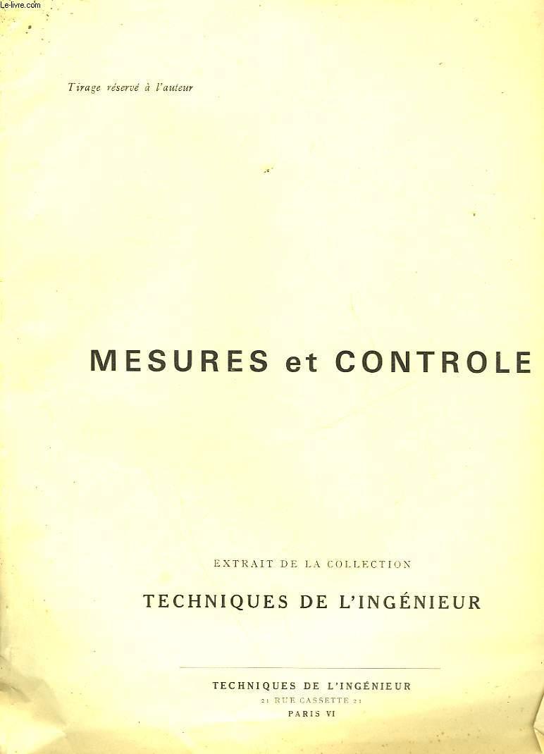 MESURES ET CONTROLE