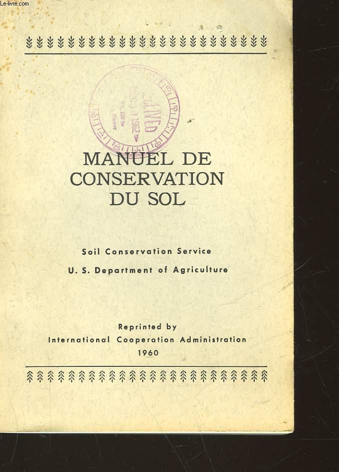 MANUEL DE CONSERVATION DU SOL