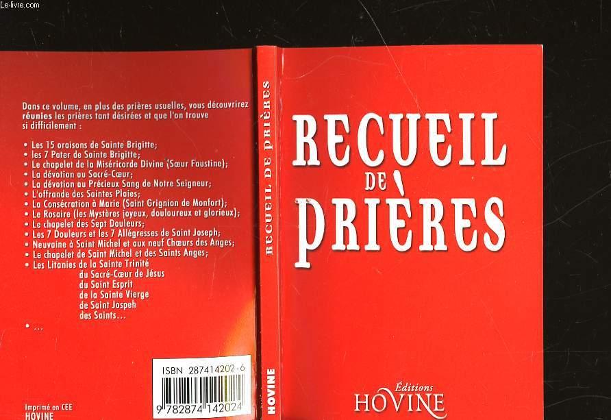 RECUEIL DE PRIERES