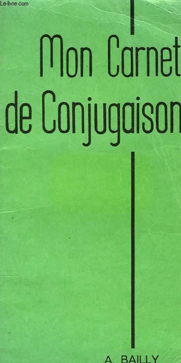 MON CARNET DE CONJUGAISON