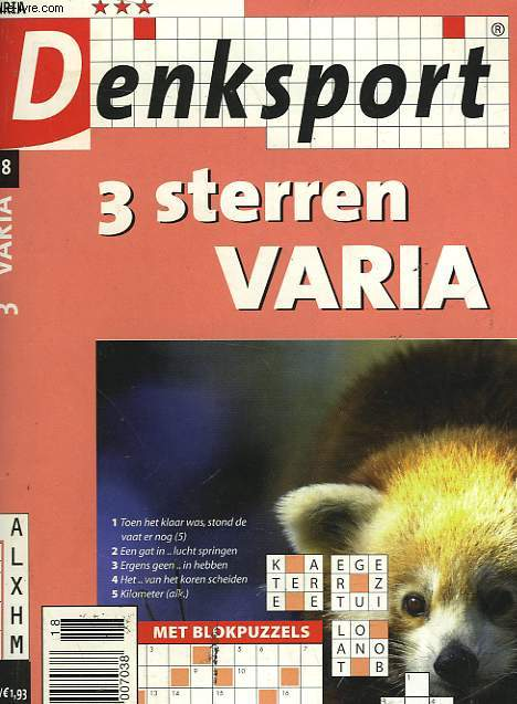 DENKSPORT - 3 STERREN VARIA