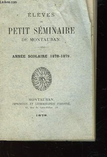 ELEVES DU PETIT SEMINAIRE DE MONTAUBAN - ANNEE SCOLAIRE 1878-1879