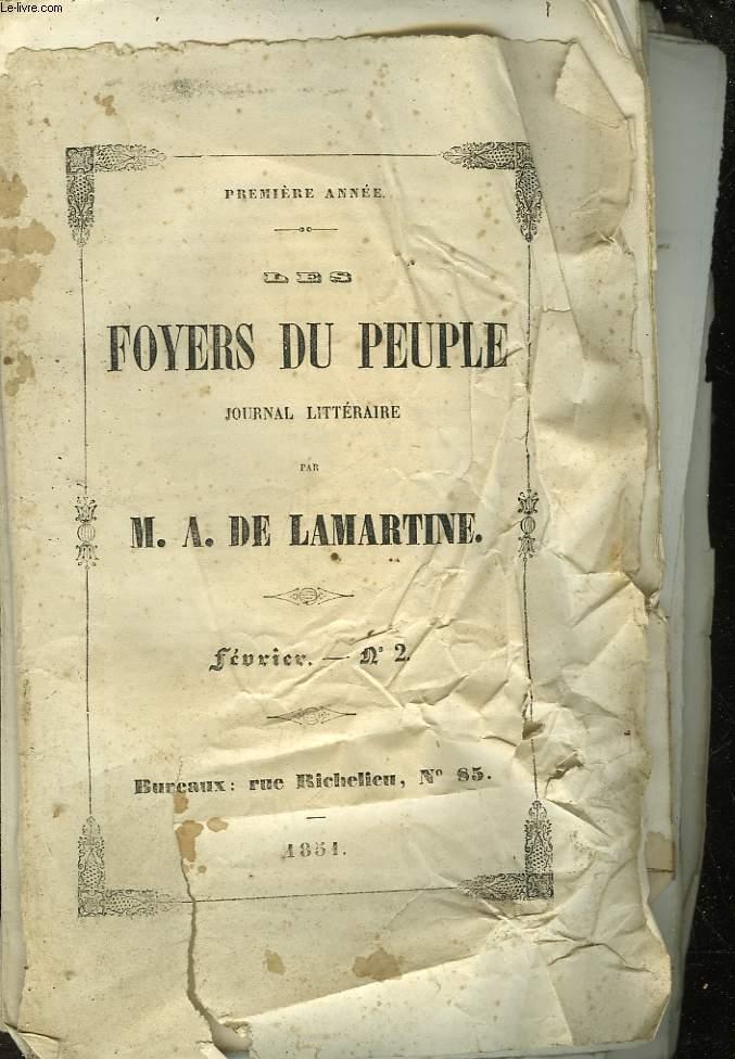 LES FOYERS DU PEUPLE - JOURNAL LITTERAIRE