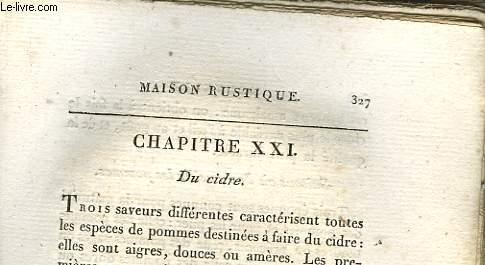 MAISON RUSTIQUE - CHAPITRE 21 - DU CIDRE - A SUIVRE