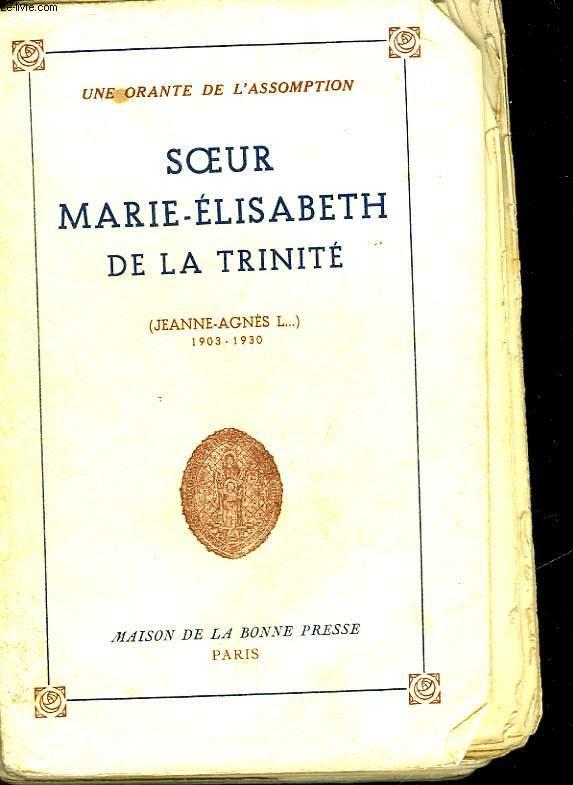 SOEUR MARIE-ELISABETH DE LA TRINITE