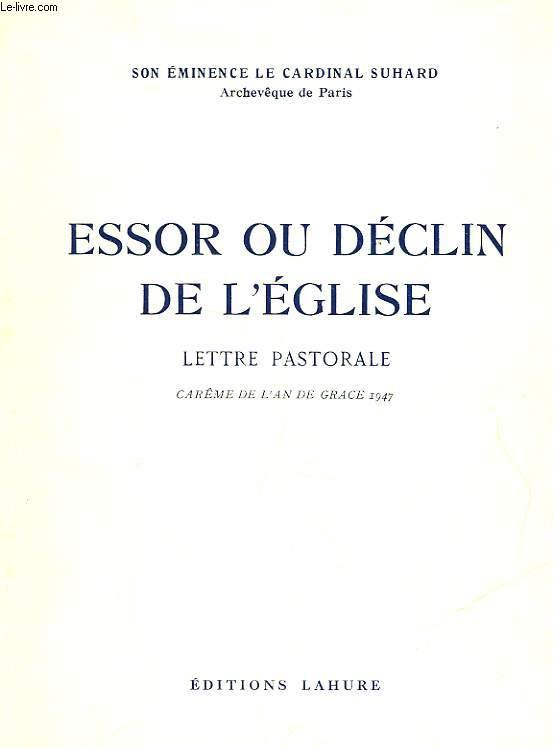 ESSOR OU DECLIN DE L'EGLISE - LETTRE PASTORALE