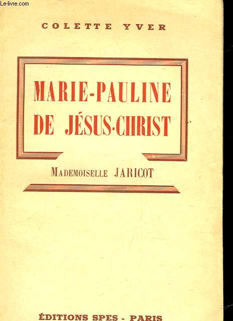 MARIE-PAULETTE DE JESUS-CHRIST