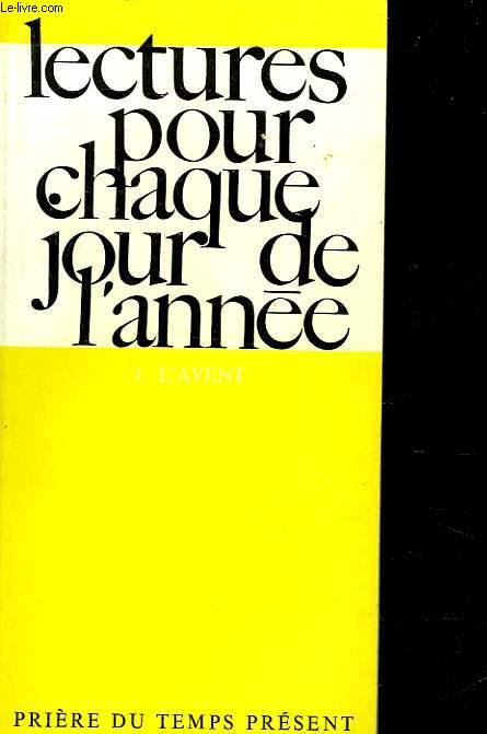 LECTURES POUR CHAQUE JOUR DE L'ANNEE