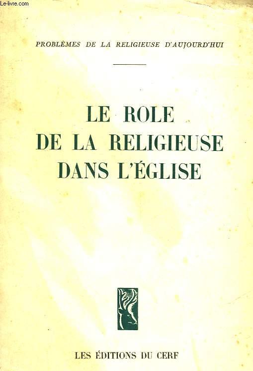 LE ROLE DE LA RELIGIEUSE DANS L'EGLISE