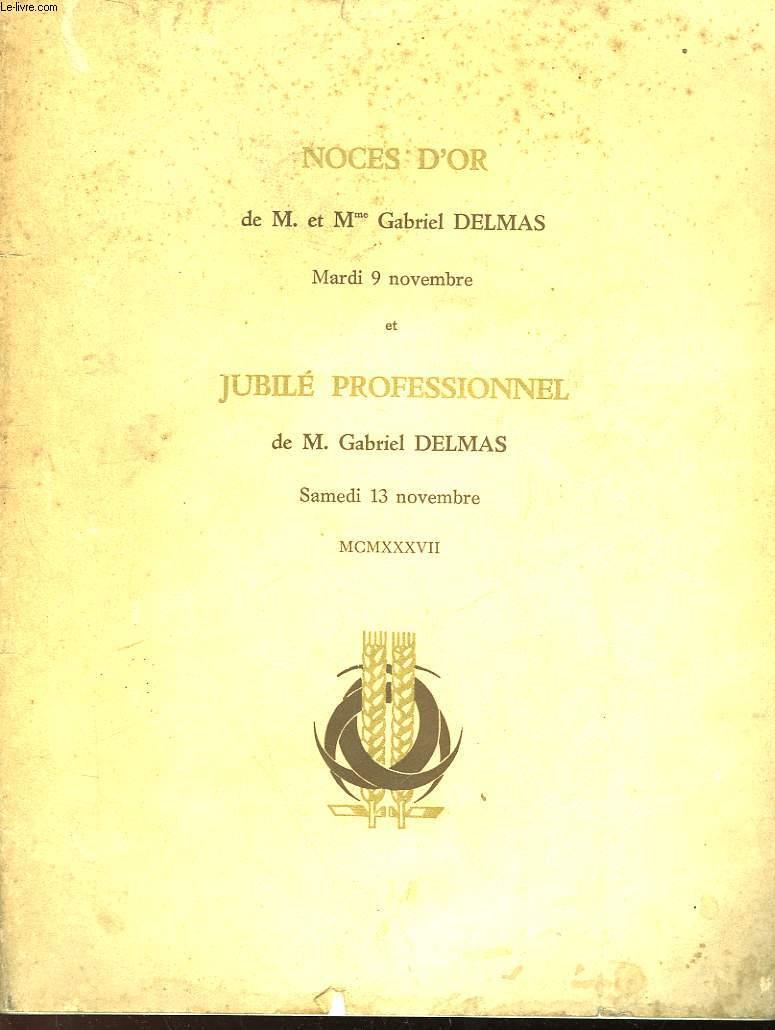 NOCES D'OR DE M. ET MME GABRIEL DELMAS