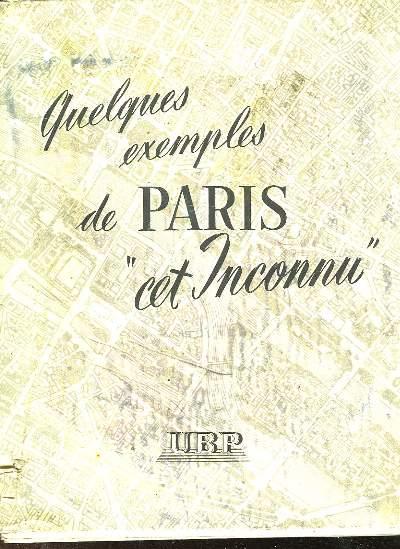 QUELQUES EXEMPLES DE PARIS