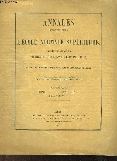 ANNALES SCIENTIFIQUES DE L'ECOLE NORMALE SUPERIEURE