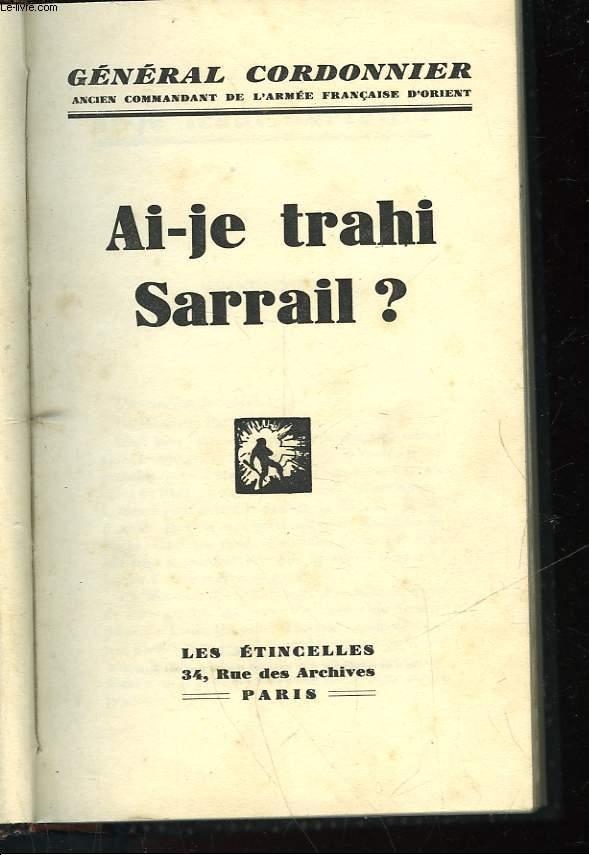 AI-JE TRAHI SARRAIL?