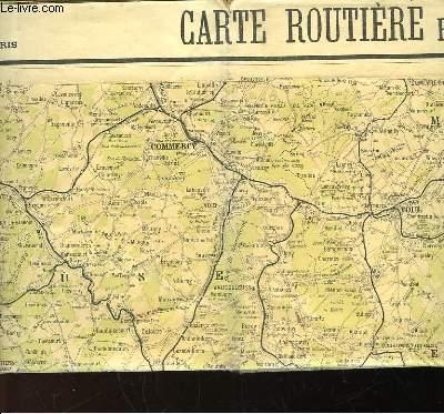 CARTE ROUTIERE POUR AUTOMOBILISTES & CYCLISTE - EST DE LA FRANCE - SECTION NORD
