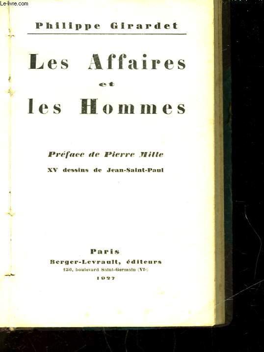 LES AFFAIRES ET LES HOMMES