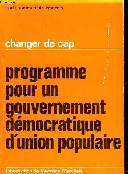 PROGRAMME POUR UN GOUVERNEMENT DEMOCRATIQUE D'UNION POPULAIRE