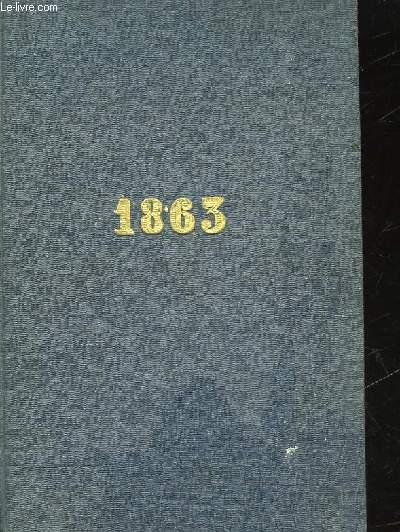 MEMORIAL OU AGENDA 1863