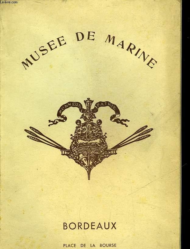 MUSEE DE MARINE DE BORDEAUX