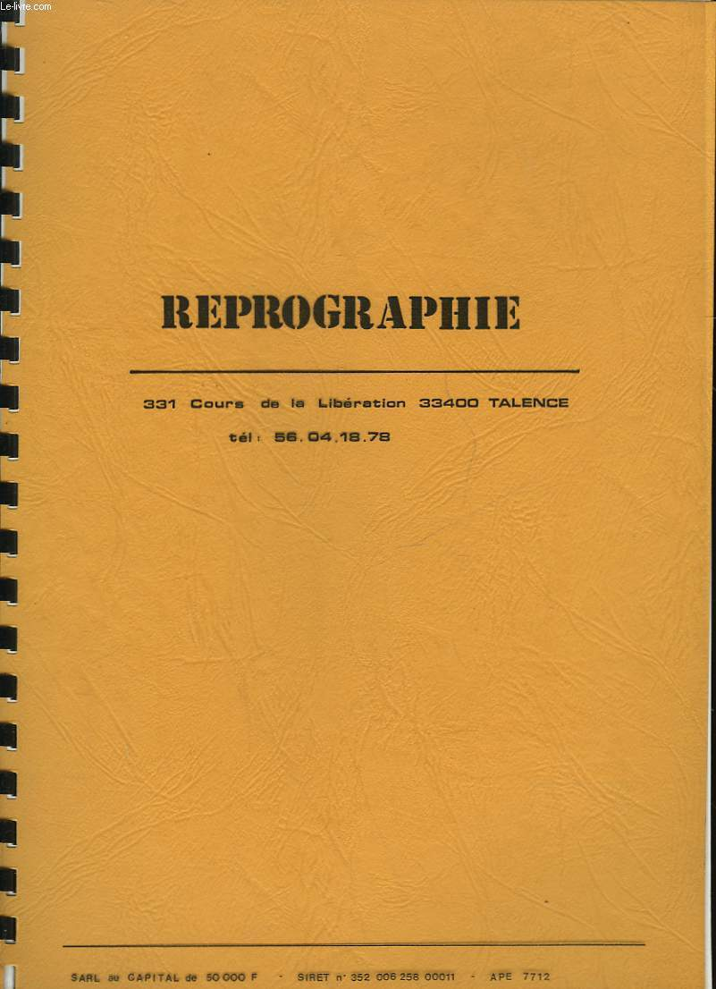 REPROGRAPHIE