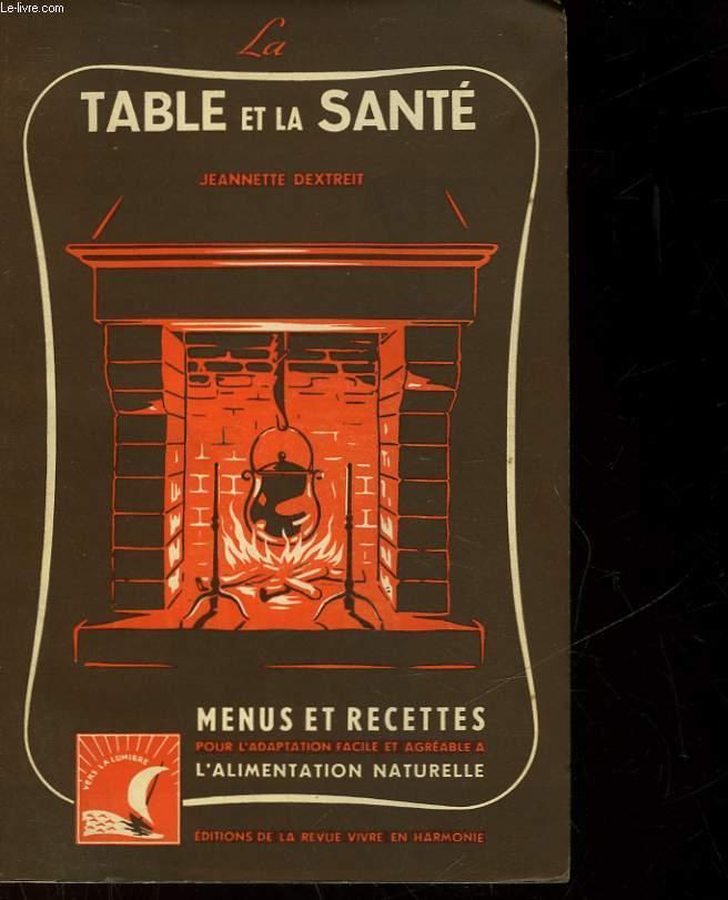LA TABLE ET LA SANTE