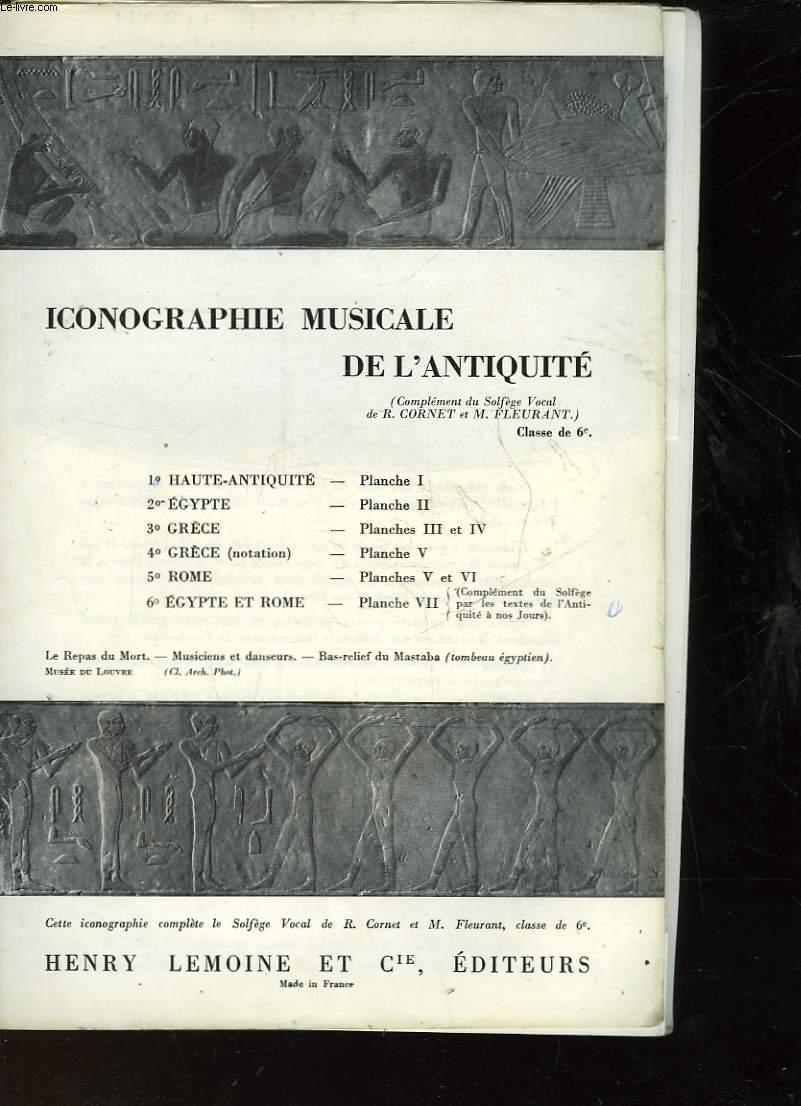 ICONOGRAPHIE MUSICALE DE L'ANTIQUITE