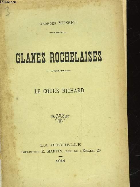 GLANES ROCHELAISES - LE COUR RICHARD
